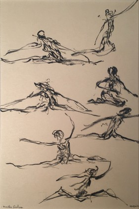 Martha Graham Troup Dancer, Sketch #2